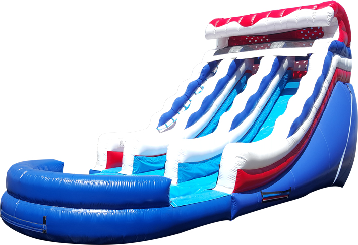 18ft Dual Lane Waterslide